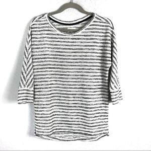 Loft Lou & Grey B/W Striped Top XXS EUC